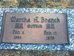 Martha A Branch