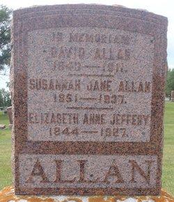 Susannah Jane <i>Jeffery</i> Allan