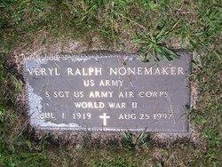 Sgt Veryl Ralph Nonemaker