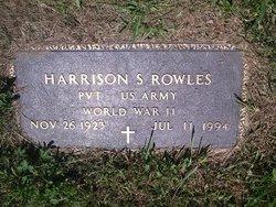 Pvt Harrison S Rowles, Jr