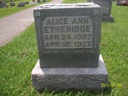 Alice Ann Etheridge