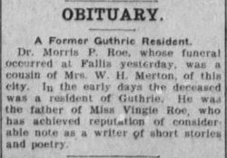 Maurice Pool Morris Roe