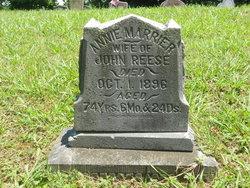 Anna Maria <i>Duvendack</i> Reese