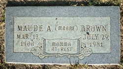 Maude A <i>Moore</i> Brown