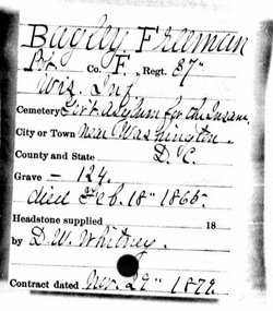Pvt Freeman Bagley