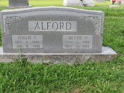 Zollie T Alford