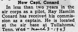 Capt Ray Hamline Hammie Conard