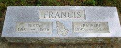 Berta Lee <i>Huddleston</i> Francis