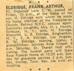 Frank A Eldredge