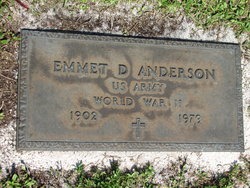 Emmet D Anderson