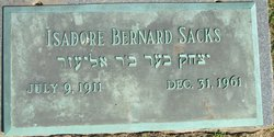 Isadore Bernard Sacks