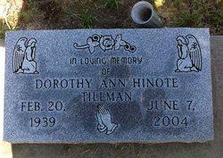 Dorothy Ann <i>Hinote</i> Tillman