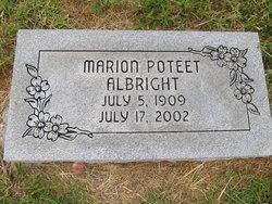 Marion <i>Poteet</i> Albright