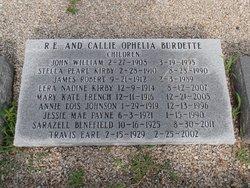 Callie Ophelia <i>Weathers</i> Burdette