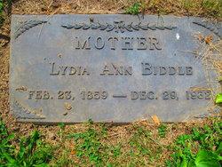 Lydia Ann Biddle