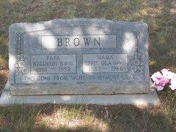 Effie Ola Jane <i>Rasberry</i> Brown