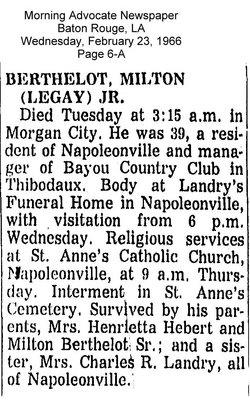 Milton Jules Legay Berthelot, Jr
