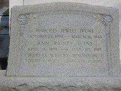 Ann <i>Rainey</i> Ivens
