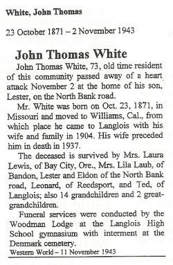John Thomas White