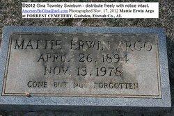 Mattie <i>Erwin</i> Argo