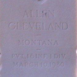 Pvt Allen Cleveland