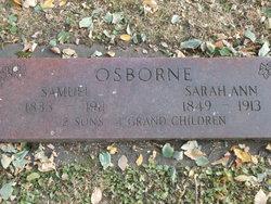 Mrs Sarah Ann Osborne