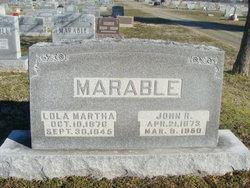 Lola Martha Mattie <i>White</i> Marable