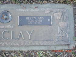 Betty Ann <i>McBride</i> Barclay
