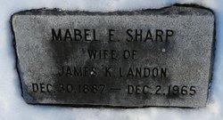 Mabel E <i>Sharp</i> Landon