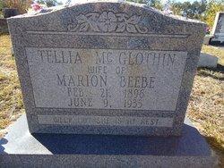Tellia <i>McGlothlin</i> Beebe