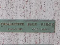 Charlotte Enid <i>Hobbs</i> Fleck