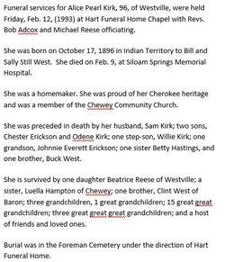 Alice Pearl <i>West</i> Kirk