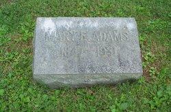 Mary E. Mollie <i>Ferguson</i> Adams