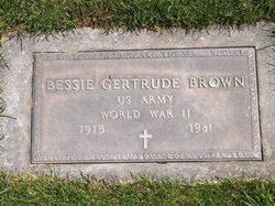 Bessie Gertrude Brown