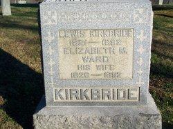 Elizabeth M <i>Ward</i> Kirkbride