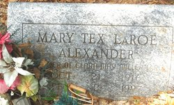Mary Tex <i>Laroe</i> Alexander