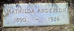 Mathilda <i>Gunderson</i> Anderson