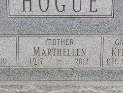Martha E. Marthellen <i>Bolander</i> Hogue