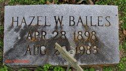 Hazel Narcissus <i>Webb</i> Bailes