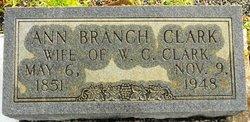 Ann Elizabeth Analiza <i>Branch</i> Clark