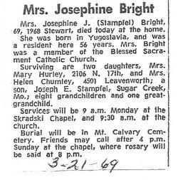 Josephine <i>Russ</i> Bright