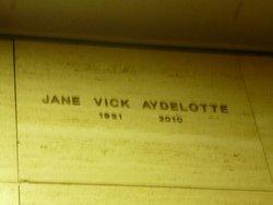 Jane <i>Vick</i> Aydelotte