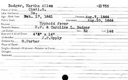Martha Allen Badger