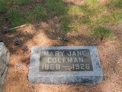 Mary Jane <i>Coleman</i> Coleman
