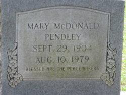 Mary <i>McDonald</i> Pendley