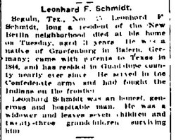 Leonhardt F. LeonhardLeonard Schmidt, Jr