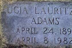 Lucia Margrethe <i>Lauritzen</i> Adams