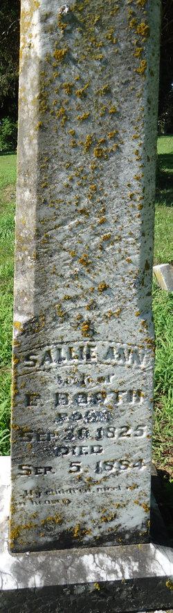 Sallie Ann <i>Payne</i> Booth