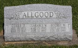 Clara E <i>King</i> Allgood