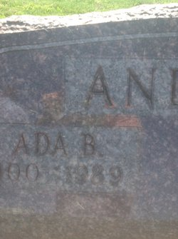 Ada B <i>Ebersold</i> Andrews